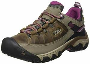 KEEN Women's Targhee 3 Waterproof Hiking Shoe, Weiss/Boysenberry, 5 M (Medium)