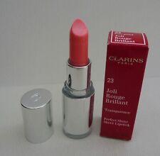 CLARINS Joli Rouge Brillant Perfect Shine Sheer Lipstick, #23 Rose Petal, BNIB