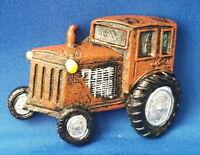 Red Vintage Tractor - VEHICLE Resin Refrigerator MAGNET Sale
