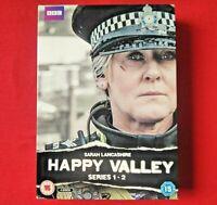 HAPPY VALLEY - SERIES 1&2 - DVD - ( 4 DISC ) - 2016 - SARAH LANCASHIRE
