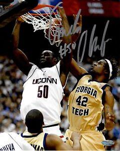 NCAA Basketball March Madness Emeka Okafor Signed 8x10 UCONN Photo Steiner COA
