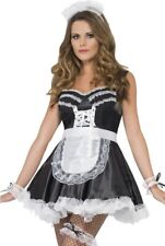 Ladies Sexy French Maid Role Play Bedroom Wear Fancy Dress Costume Outfit Kit