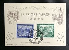 TIMBRES D'ALLEMAGNE INTERALLIEE : 1948 YVERT N° 55 + 56 LEIPZIGER MESSE 2 3 1948