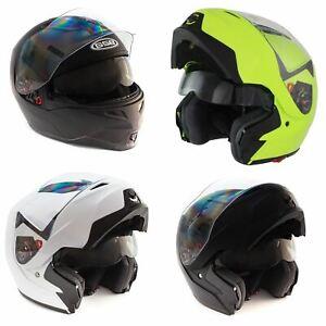 GSB Flip Front Motorcycle Helmet Modular Flip Up Cheap Bike Lid Plain New