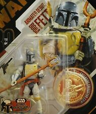 Star Wars 30th #24 Animated Debut UGH Boba Fett Mandalorian MOC Figure Gold Coin