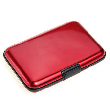 Aluminum Mini Business ID Credit Card Pocket Holder Case Wallet Box Red