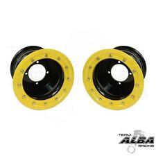 YFZ 450 YFZ 450R  Rear Wheels  Beadlock  9x8  3+5  4/115  Alba Racing  Blk/ylo