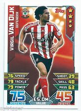 2015 / 2016 EPL Match Attax Base Card (224) Virgil VAN DIJK Southampton
