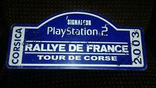 plaque rallye tour corse 2003 signe wrc plate