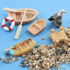 Miniature Boats Set for Fairy Gardens / Terrarium by Mowbray Miniatures (10 pcs)