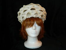 Schiaparelli Designer Hat Handmade White Straw Mint Condition Gorgeous!