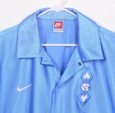 Vtg Nike Unc Mens Sz Large North Carolina Tar Heels Basketball Snap Warmup Shirt