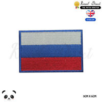 Russia National Flag Embroidered Iron On Sew On PatchBadge For Clothes etc