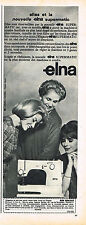 PUBLICITE ADVERTISING 035  1964  ELNA   machine à coudre SUPERMATIC