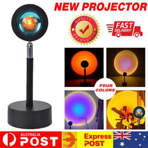 LED Sun Sunset Rainbow Projector Atmosphere Light Lamp USB Home DIY Gifts AU