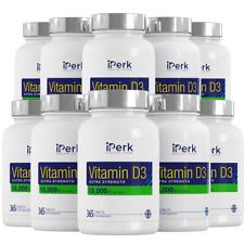 Vitamina D3 10000IU 10x365 comprimidos fuerza adicional 100% UK Made guarante de devolución de dinero