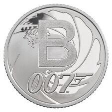 2018 ARGENTO PROOF James Bond 007 10p moneta dalla Royal Nuovo di zecca in magazzino!!!