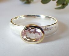 SCHMUCK-STCK RING 925 Silber Morganit Facetten 60 19 vergoldet