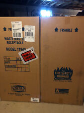 Receptacles Waste Master Stainless Steel Trash Can Fire Safety 40 Gal T1940