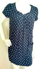 JOULES Camellia Tunic Dress size 8 Navy Spot --BRAND NEW--