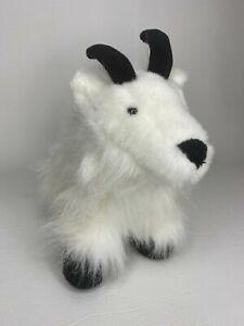 Webkinz Mountain Goat Ganz No Code White Black Stuffed Animal Plush Toy