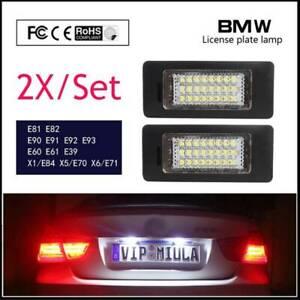 2X BMW License Plate Light Bulb Lamp For E39 M5 E70 E71 X1 X5 X6 E81 E60 E90 E92