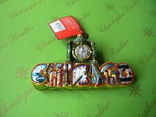 ZEGAR NA NAPISIE Christopher Radko Chicago Ornament
