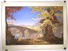 VINTAGE 1952 LITHOGRAPH PRINT T.M. CLELAND 'ROMANCE' HARRIS OFFSET PRESS TM ART
