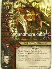 Warhammer Invasion - 1x Lord von Khorne  #033 - Kataklysmus