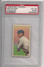 1909 T 206 NAP RUCKER THROWING PSA 4 MC SWEET CAPORAL 350 SUBJECTS FACTORY 30