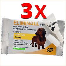 ELIMINALL ANTIPARASITE - CHIENS PETITS 2-10KG (Générique FRONTLINE) - 3 PIPETTES
