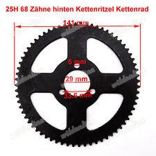 25H 68 Zähne hinten Kettenritzel Kettenrad für 47 49cc Minimoto PocketBike