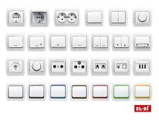 Schalterserie Schalterprogramm alpinweiß - All-in - Rahmen + Einsatz + Abdeckung