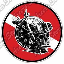 """Scuba Diving Dive Flag Deep Sea Ocean Car Bumper Vinyl Sticker Decal 4.6""""X4.6"""""""