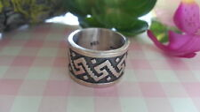 Beautiful  Vintage Tall Bold Engraved   Ring 925 Sterling Silver* Size 7.5 *A779