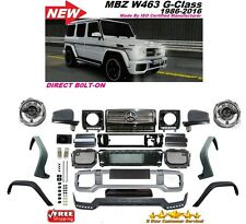 02-16 W463 G63 STYLE FRONT BUMPER GRILL FLARES FULL CONVERSION G55 G500 G550