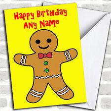Gingerbread Man Birthday Customised Card