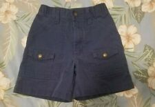 Boy Scouts Of America Cub Scout Navy Blue Cargo Shorts- Size 6 Waist 21-Bsa