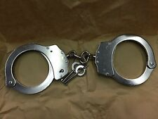 POLICE HANDCUFFS SOLID STEEL, 2 GENUINE Police Keys, Strong Heavy, Serial number