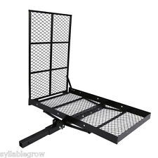 "48""x28"" Foldable Hitch Mounted Wheel Chair Carrier Mobility Scooter Ramp Rack US"