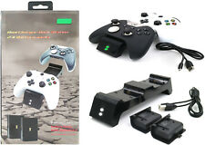 Wireless Controller Dual Charging Docks + 2X Battery Pack for Xbox One X S Elite