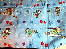 Disney Mickey , Goofy , Minnie  and Donald  Christmas  Queen Sheet Set  New