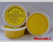 African Shea Butter 8 oz. YELLOW 100% Pure Raw Unrefined Organic Body Skin Hair