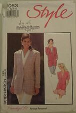 Vintage Sewing Pattern Style 2053 Misses' Long Length Lined Jacket Cut 8-16