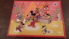 Vintage Jaymar Walt Disney's Mickey Mouse Club Music Band Frame Tray Puzzle
