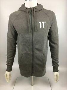 11 Degrees Men's Core Full Zip Hoodie, Charcoal Marl Grey