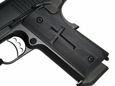 1911 Grips Officer Size Cross Black 3D Printed