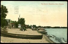 Vintage Postcard View Of The Beach, Hamilton Ont. Canada 1912