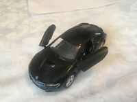 1:36 BMW i8 BLACK MODEL CAR OPENING DOORS PULLBACK
