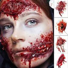 4 PCS Halloween Fake Blood Scar Tattoo Spider Sticker Body Art Decoration
